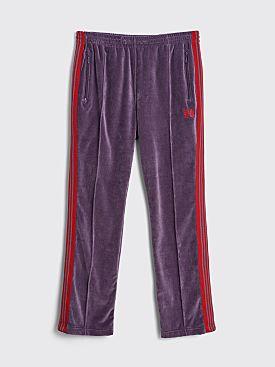 Needles Narrow Velour Track Pants Purple