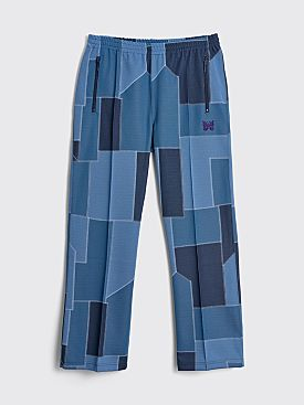 Needles Track Pants Patchwork Blue