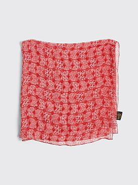 Needles Papillon Silk Crepe Scarf Red