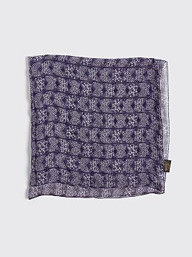 Needles Papillon Silk Crepe Scarf Purple