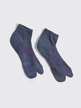 Needles Thumb Ankle Socks Dye Purple