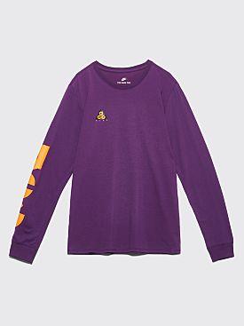new concept 5356e 642da Nike Sportswear ACG Long Sleeve T-shirt Night Purple   Bright Mandarin