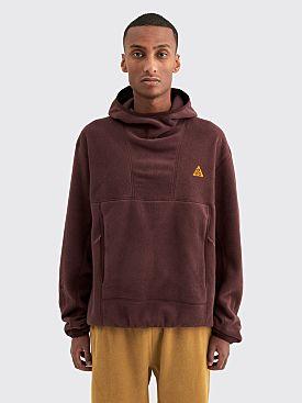 Nike ACG Polartec Fleece Pullover Hoodie Deep Burgundy