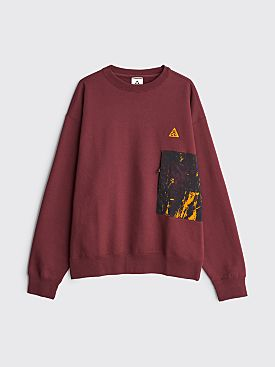 Nike ACG Crew Sweatshirt Night Maroon