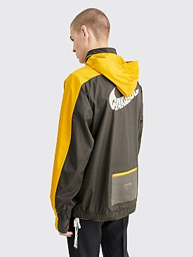 Nike Gyakusou Half Zip Hooded Jacket Deep Pewter / Mineral Yellow