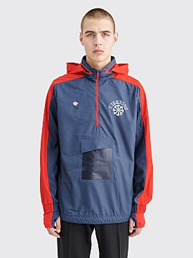 Nike Gyakusou Half Zip Hooded Jacket Thunder Blue / Sport Red