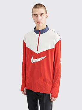 Nike Gyakusou Half Zip LS Top Sport Red