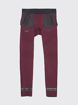 Nike Gyakusou Techknit Tights Deep Burgundy / Off Noir