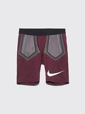 Nike Gyakusou Techknit Shorts Deep Burgundy / Iron Grey