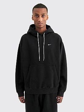 NikeLab Washed Fleece Hooded Sweatshirt Black
