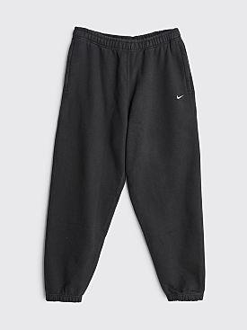 NikeLab Washed Fleece Pants Black