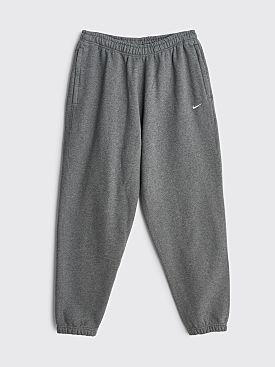 NikeLab Washed Fleece Pants Charcoal