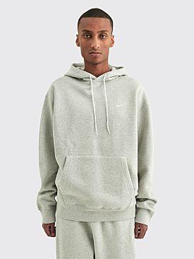 NikeLab Washed Fleece Hooded Sweatshirt Grey Heather