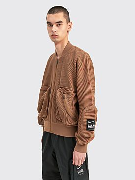Nike x Undercover Knit MA-1 Bomber Jacket Lichen Brown