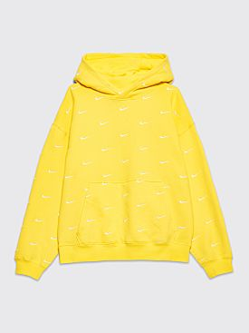 Nike NRG Swoosh Logo Hooded Sweatshirt Yellow