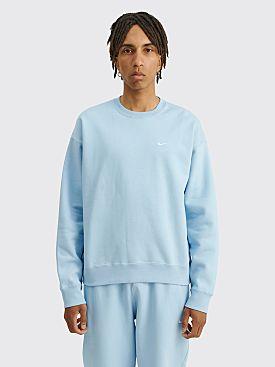NikeLab Solo Swoosh Fleece Crew Neck Psychic Blue