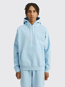 NikeLab Solo Swoosh Fleece Hoodie Psychic Blue