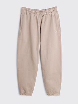 NikeLab Solo Swoosh Fleece Pants Malt / White