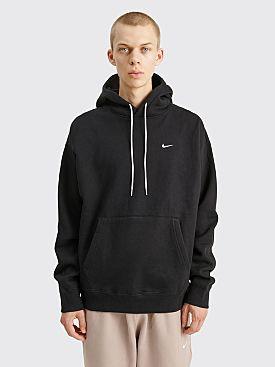 NikeLab Solo Swoosh Fleece Hoodie Black / White