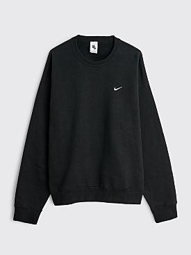 NikeLab Solo Swoosh Fleece Crew Neck Black / White