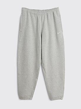 NikeLab Solo Swoosh Fleece Pants Dark Grey Heather / White