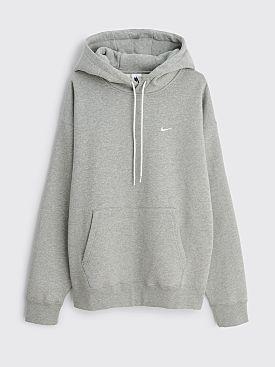 NikeLab Solo Swoosh Fleece Hoodie Dark Heather Grey / White