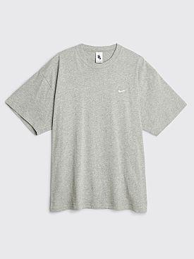 NikeLab Solo Swoosh T-shirt Dark Grey Heather / White