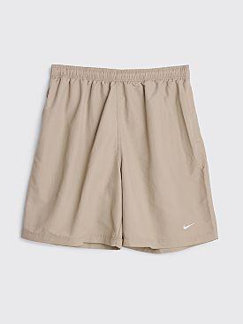 NikeLab Solo Swoosh Shorts Malt / White