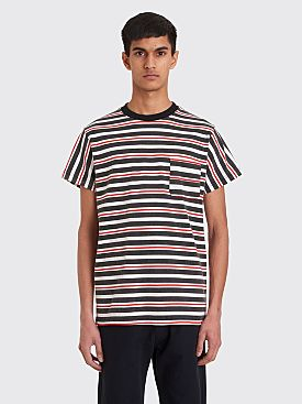 Noon Goons Cruiser Pocket T-shirt Stripe Black / Red
