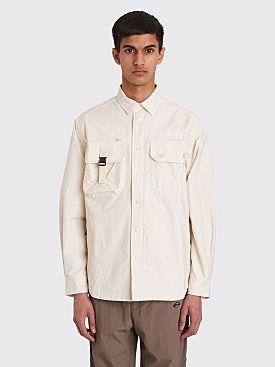 The North Face Black Series Pertex Coach Shirt Jacket Vintage White