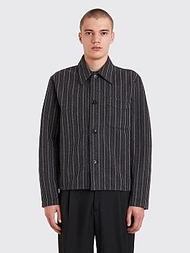 Our Legacy Shrunken Shirt Ceremonial Stripe Black