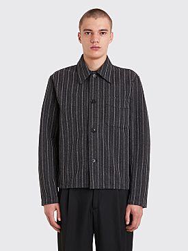 Our Legacy Shrunken Shirt Ceremonial Stripe Black