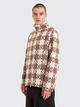 Our Legacy Whole Zip Funnel Jacket Borrowed Check Brown