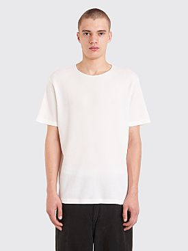 Our Legacy Fine U-Neck Waffle T-shirt Ivory White