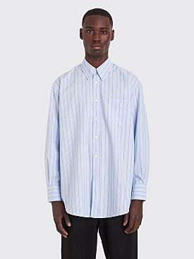 Our Legacy Less Borrowed Shirt Irregular Stripe Blue