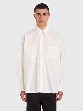 Our Legacy Parachute Cotton Overshirt Egg White