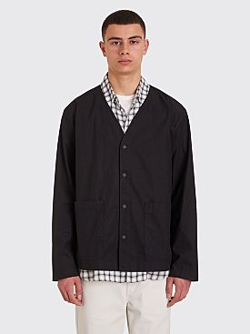 Our Legacy Parachute Cotton Tech Cardigan Washed Black