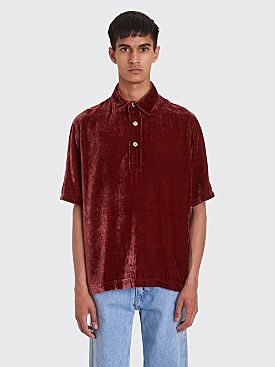 Our Legacy Piquet Shirt Wine Velvet