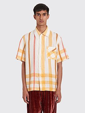 Our Legacy Box Short Sleeve Shirt Bistro Napkin Print