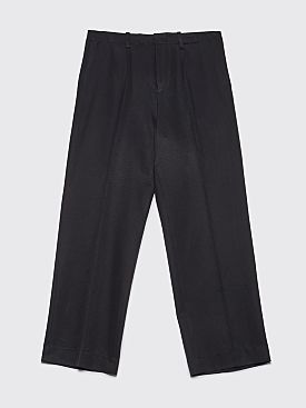 Our Legacy Borrowed Chino Pants Shiny Black Twill