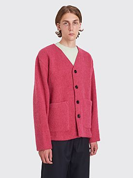 Our Legacy Cardigan Shetland Wool Cerise