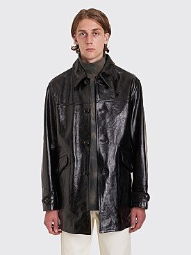 Our Legacy Buta Leather Coat Black
