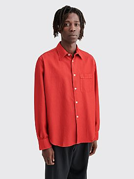 Our Legacy Policy Shirt Tango Twill Red