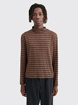 Our Legacy Artist Trashed Turtleneck Stripe Brown