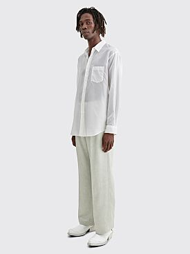 Our Legacy Borrowed Linen Chino Pants Metallic Grey