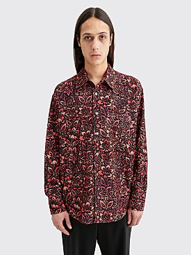 Our Legacy Coco 70s Shirt Floral Wallpaper Print Black