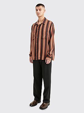 Our Legacy Heusen Shirt Sofa Stripe Brown
