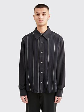 Our Legacy Placket Shirt Stripe Black