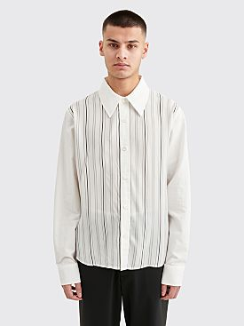 Our Legacy Placket Shirt Stripe White