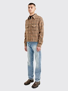 Our Legacy Shrunken Frontier Shirt Houndstooth Beige